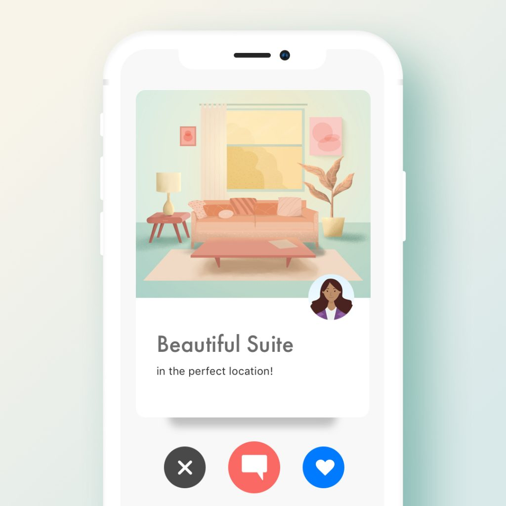 Liv Rent App Illustration