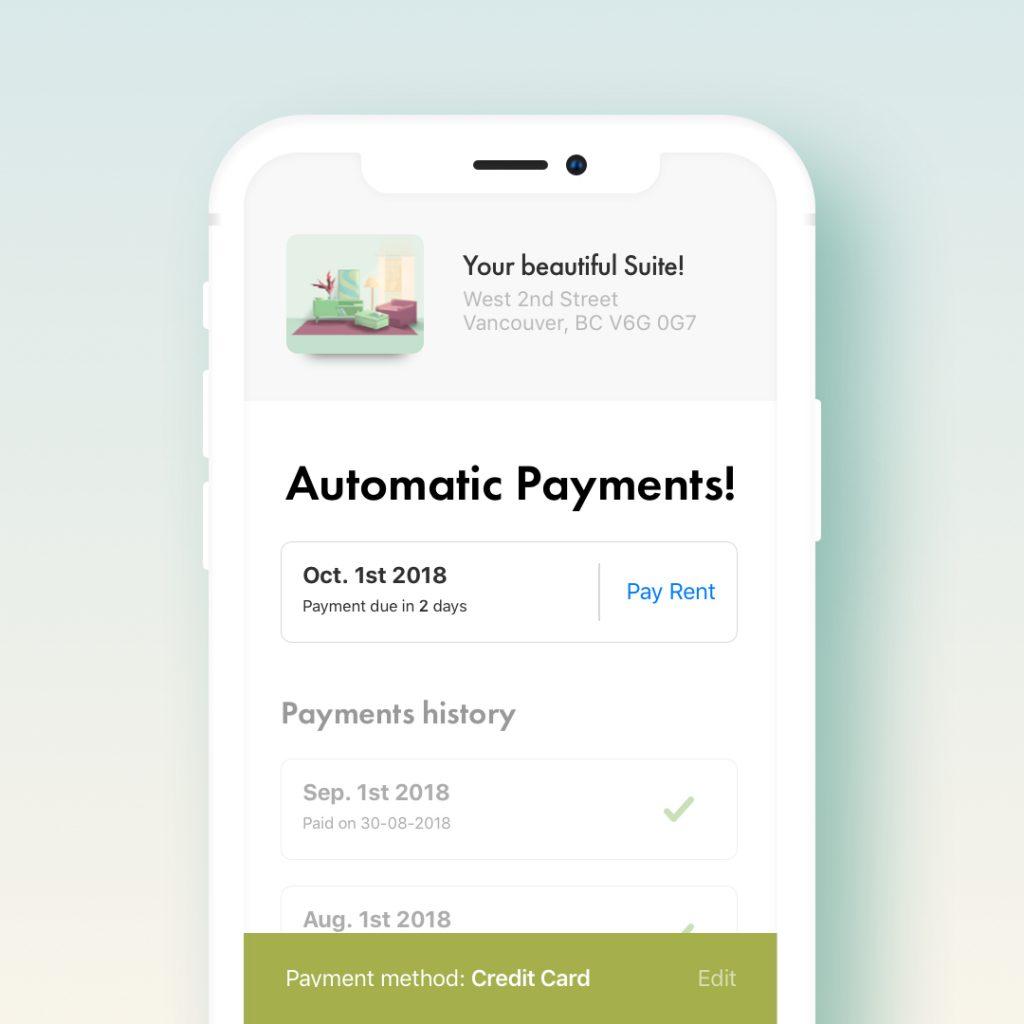 Liv Rent App Payments Illustration