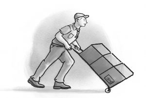 Movers Moving Your Stuff Illustration