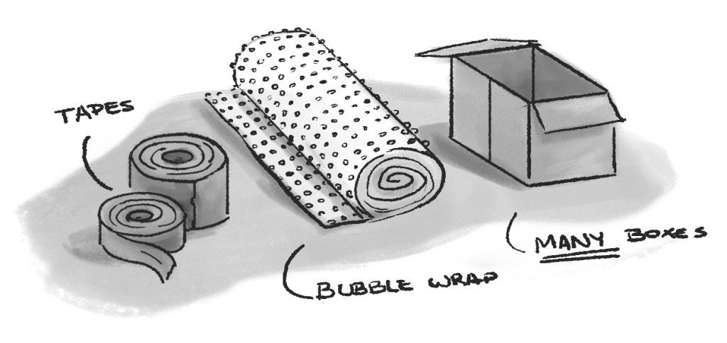 Moving Materials Illustration