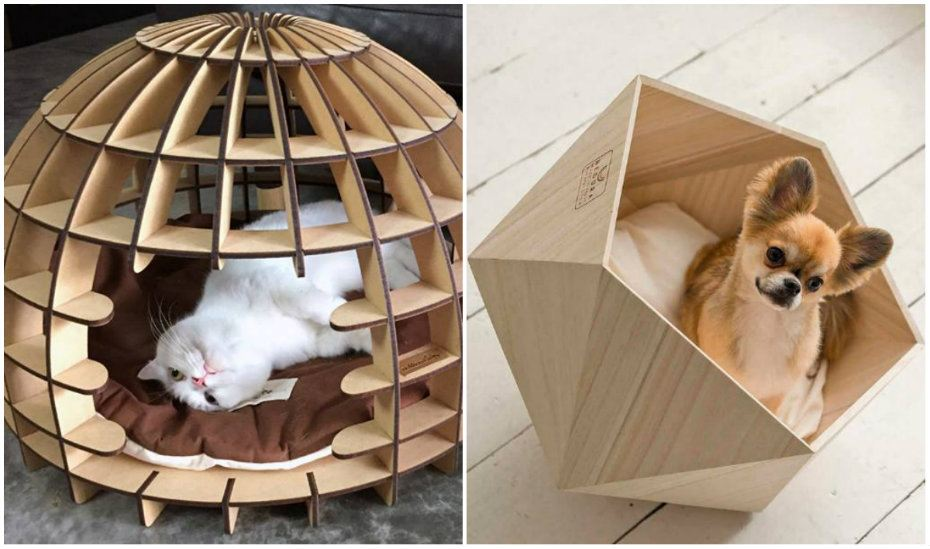 Natural Slow Wood Pet Beds