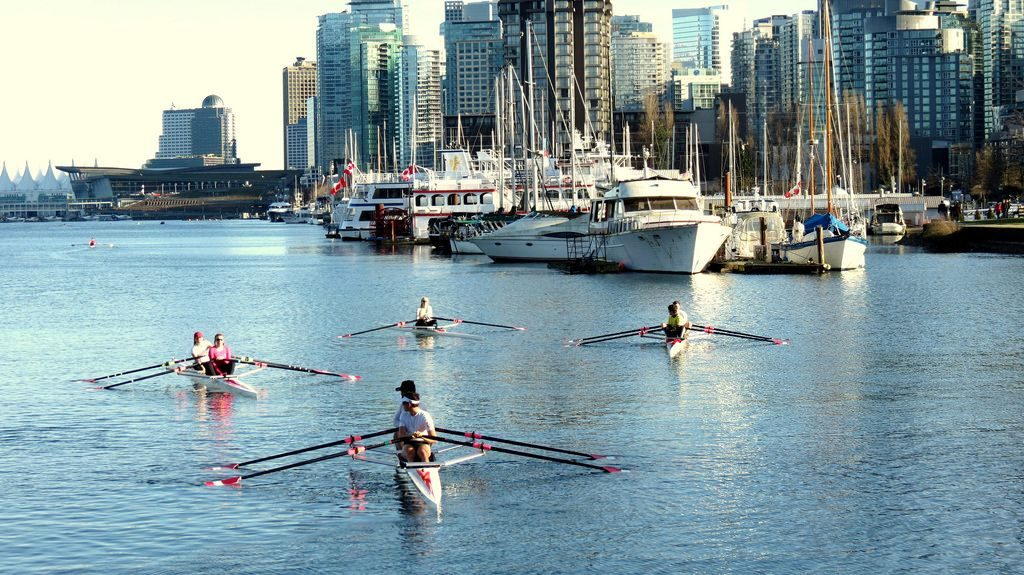Rowing in Coal Harbour