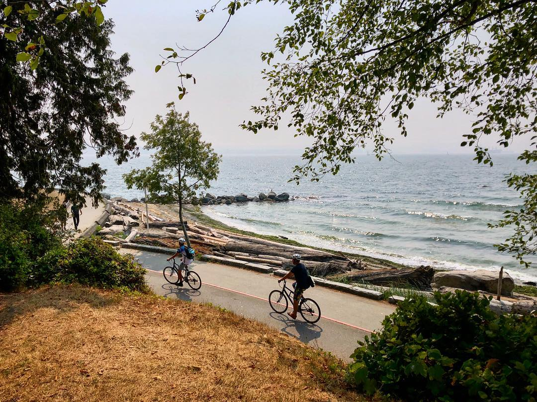 Cyclists in Stanley Park