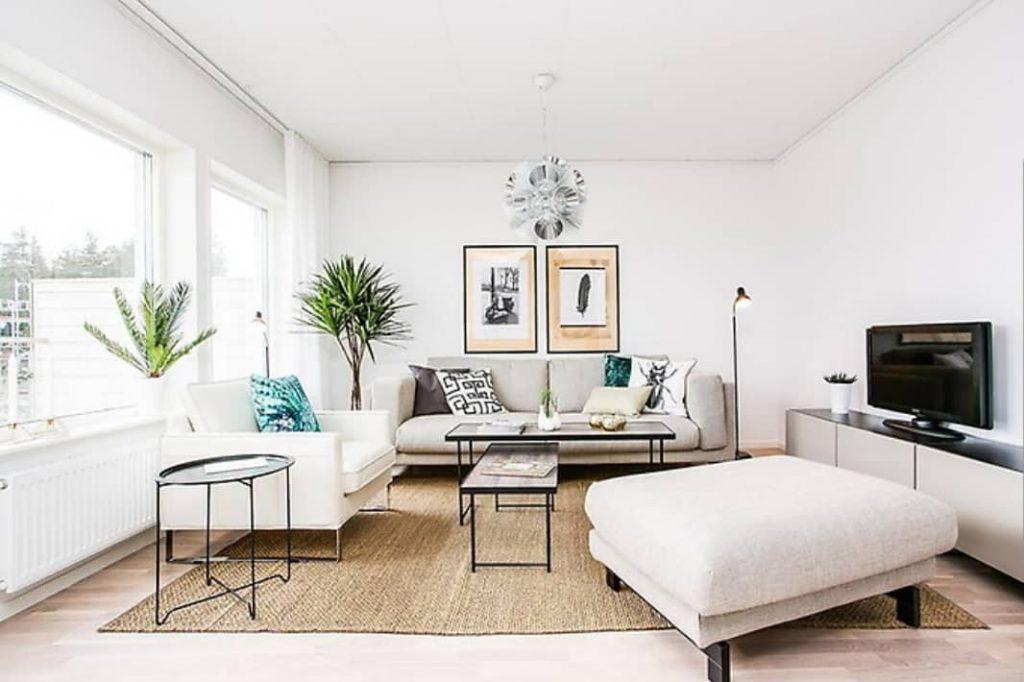 Rental Property Photography Living Room Lighting