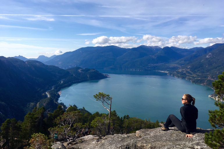 View From The Chief Hike Near Vancouver