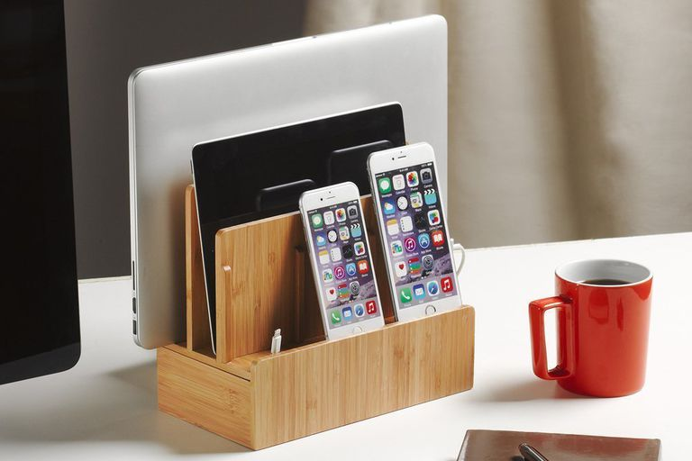 Minimal iPad and iPhone Desktop Charging Stand