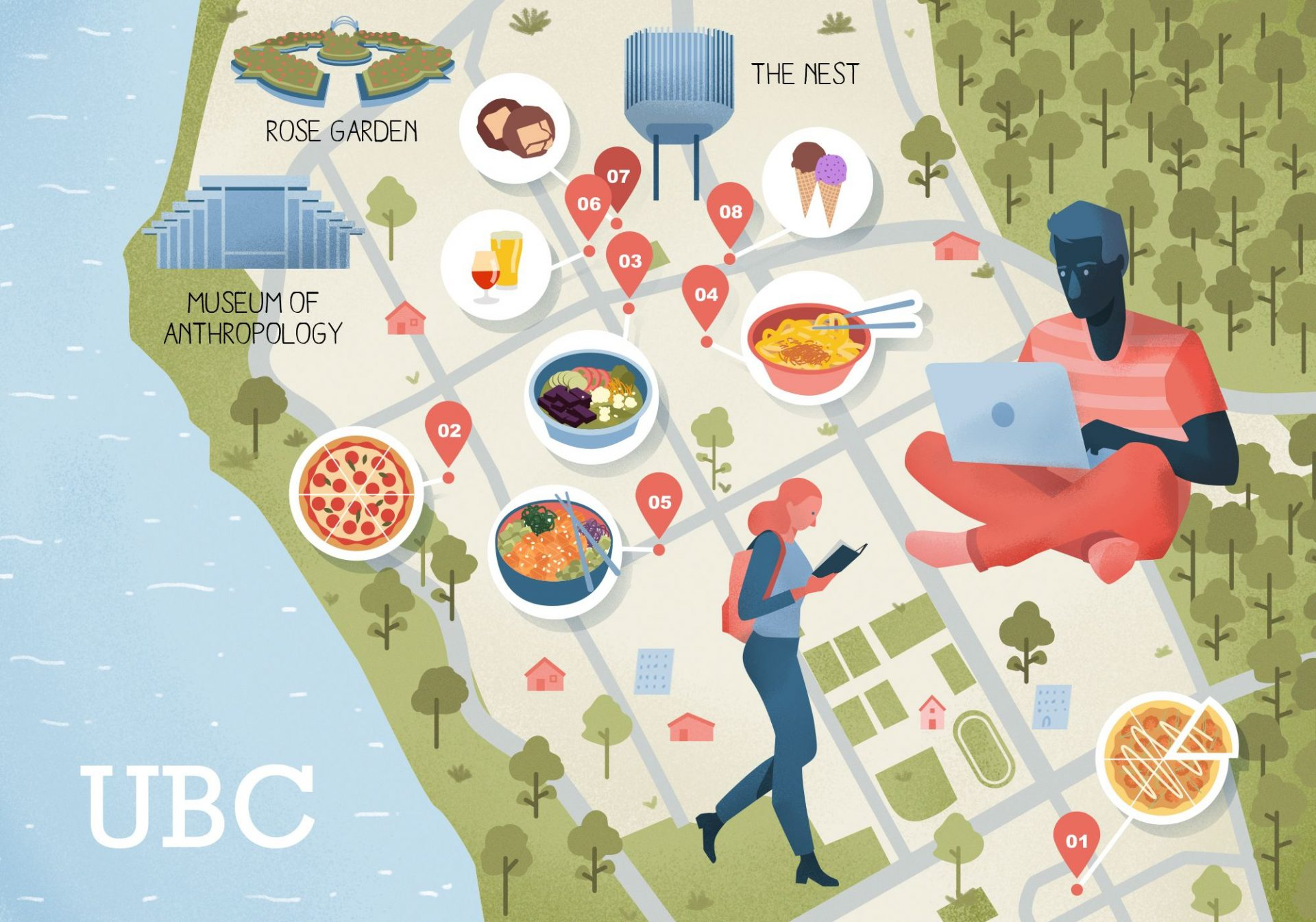 Places to Eat Around UBC