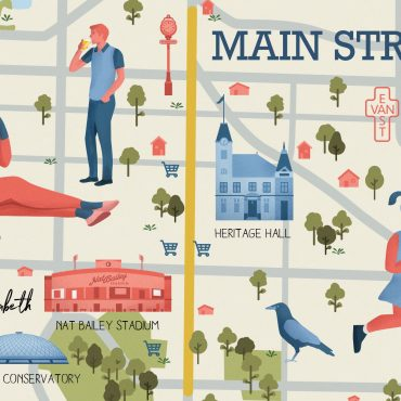 Main Street Vancouver Illustrated Map