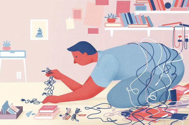 Tech Clutter Illustration
