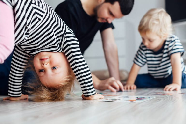 Kids Playing in Apartment