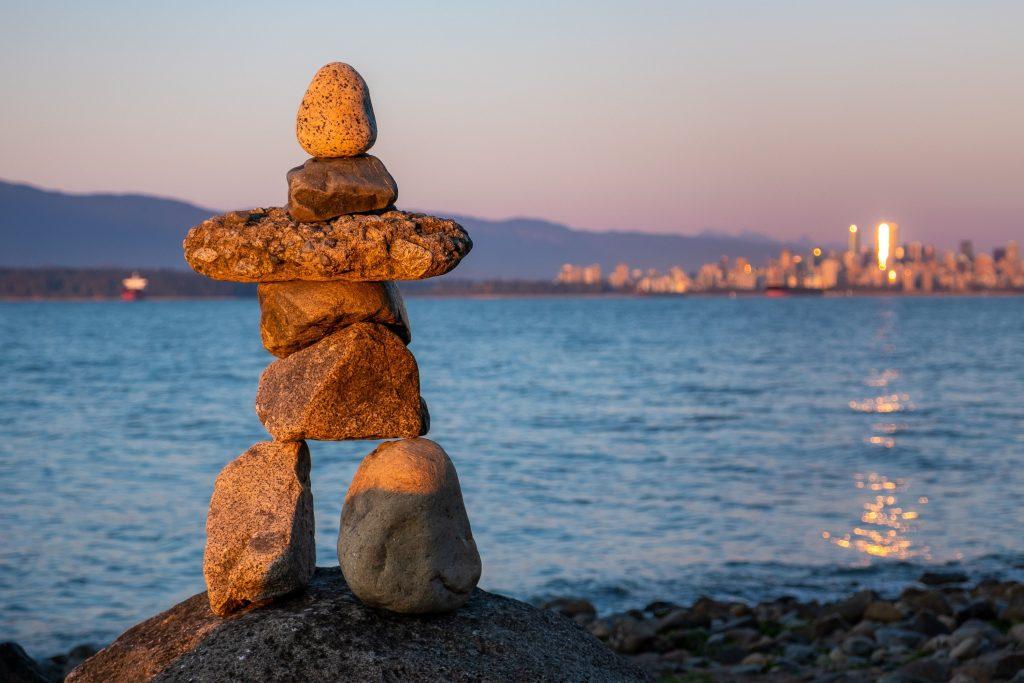 Jericho Beach Rock Sculpture