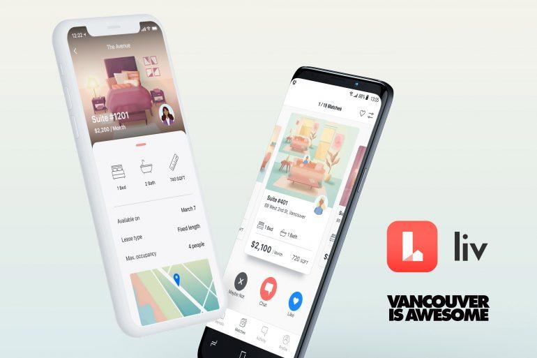 Liv Rent App Mockups