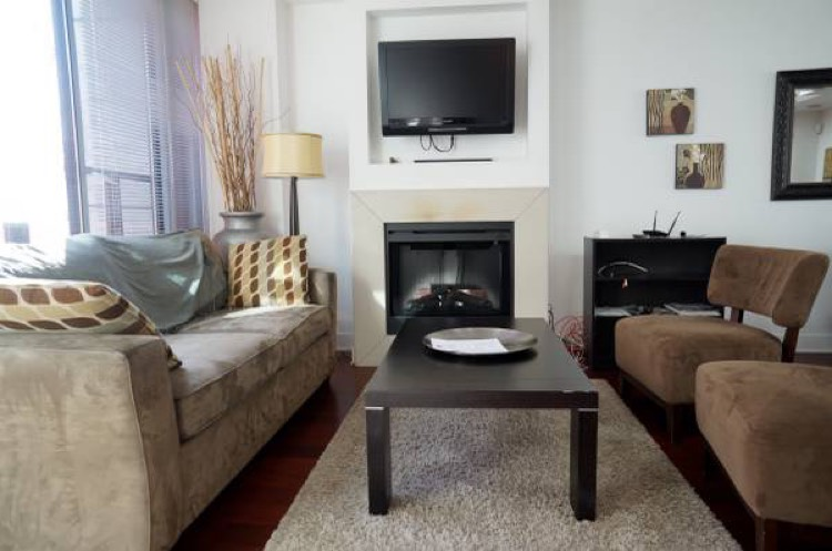 Apartment For Rent Elan 1255 Seymour Vancouver - Living Room