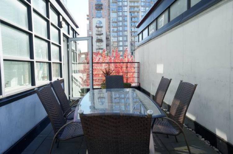 Apartment For Rent Elan 1255 Seymour Vancouver - Patio Area