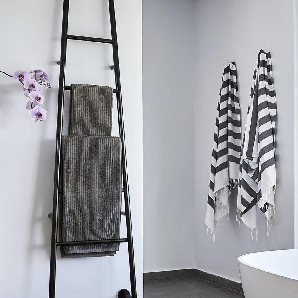 Bathroom Ladder Rack
