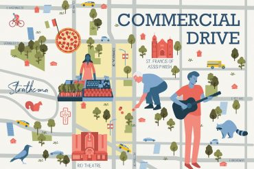 Commercial Drive Vancouver Illustrated Map