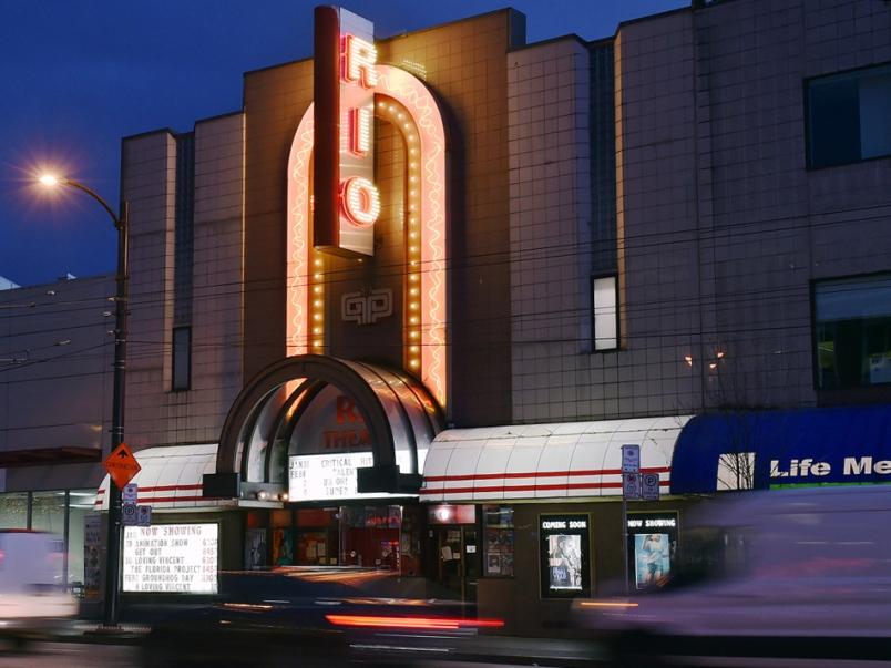 Rio Theatre Exterior at Night