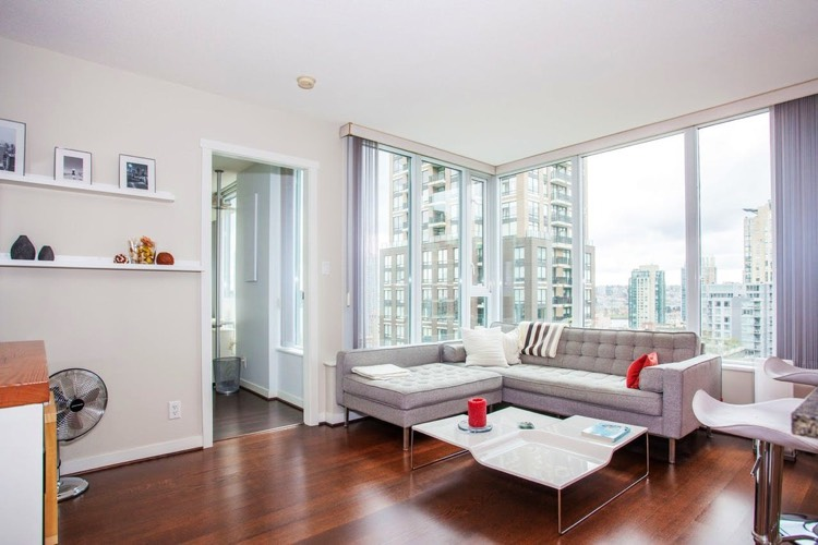 Apartment for Rent in The Gallery 1010 Richards Street Vancouver Living Room