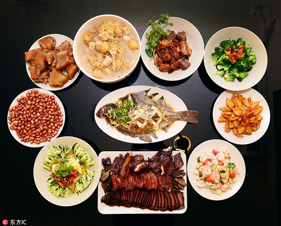Chinese New Year Dinner Dishes