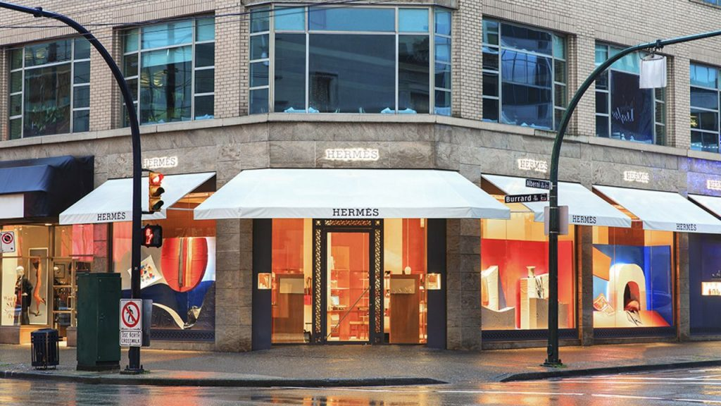Hermès store in Vancouver