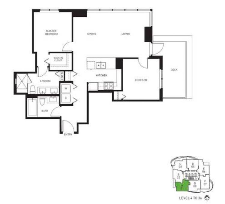 Apartment for Rent Midori 6638 Dunblane Ave Burnaby - Floorplan