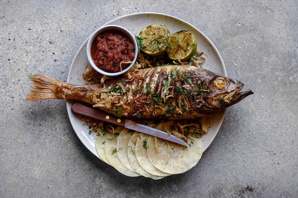 Chargrilled Rockfish at Tacofino Ocho in Vancouver
