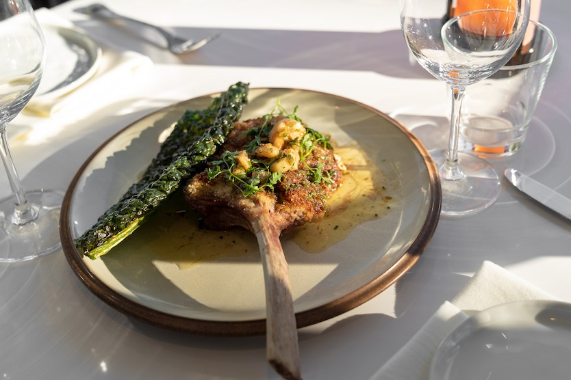 Parmesan Crusted Veal Chop at Verre Restaurant Vancouver