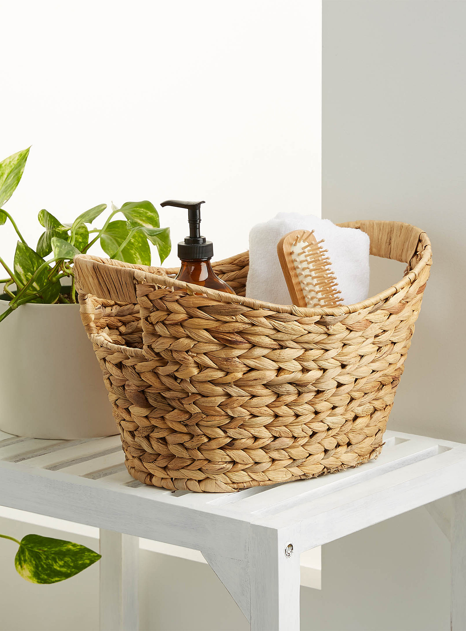 Woven Bathroom Caddy Basket