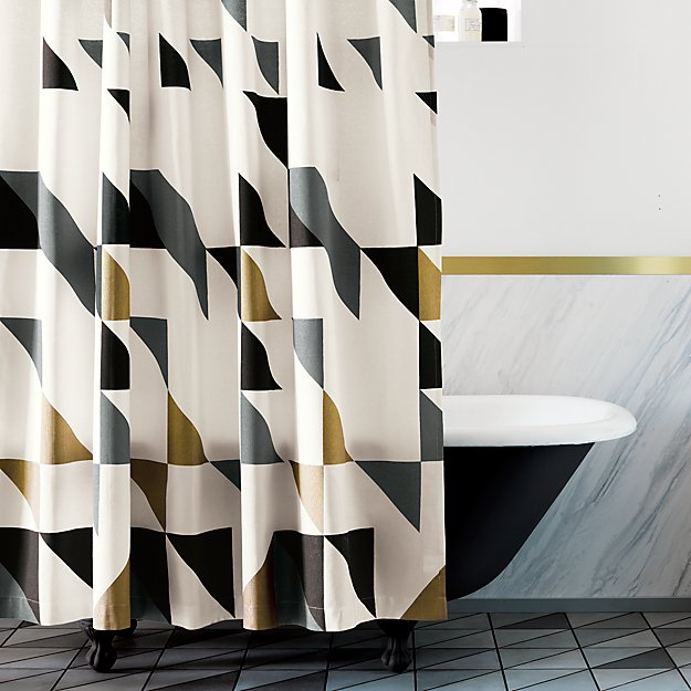 Modern Geometric Shower Curtain