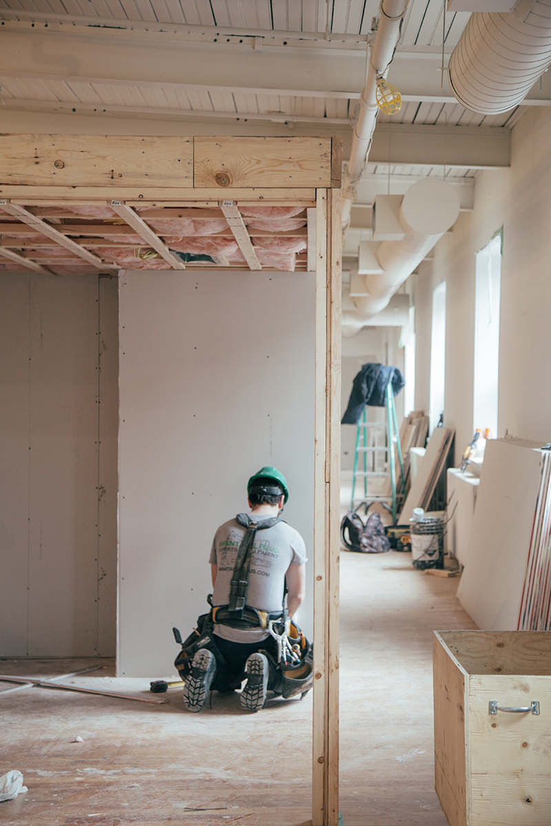Indoor building renovations