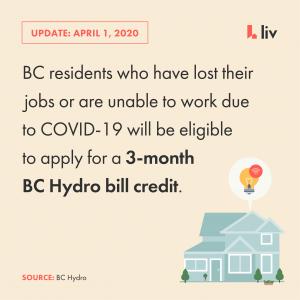BC Hydro Bill Credit For COVID-19