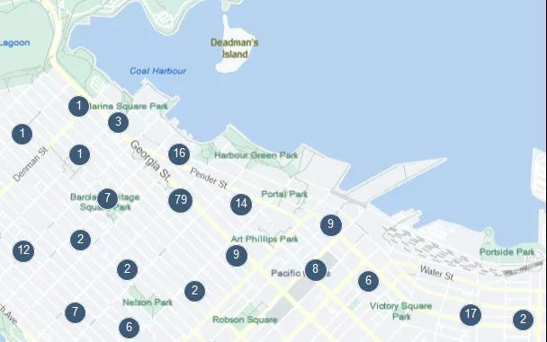 上图为www.liv.rent地图导航功能,可以根据地段、街道查找房源。