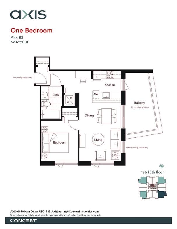 Concert Properties 出租公寓 UBC Axis