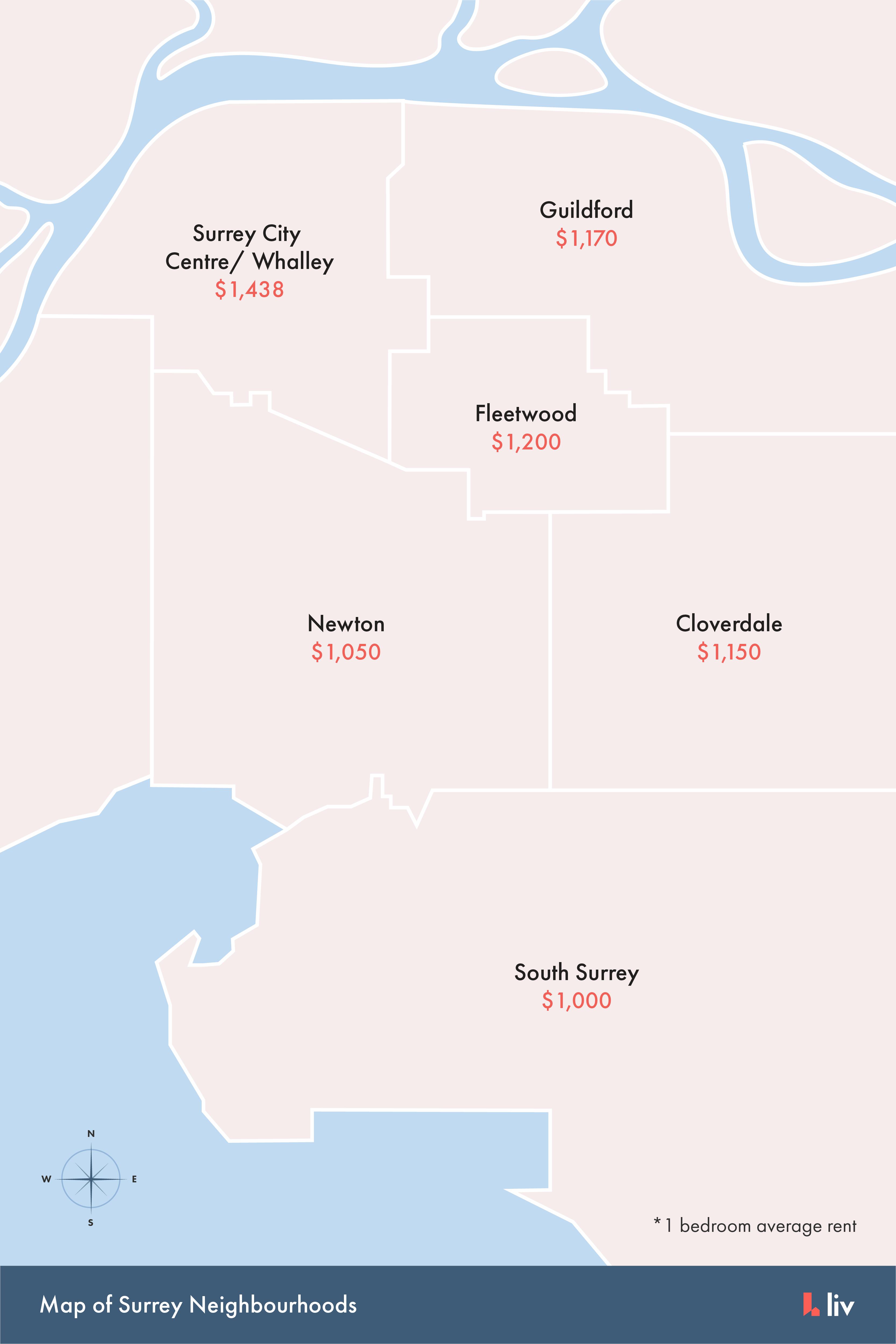 map of surrey bc neighbourhoods