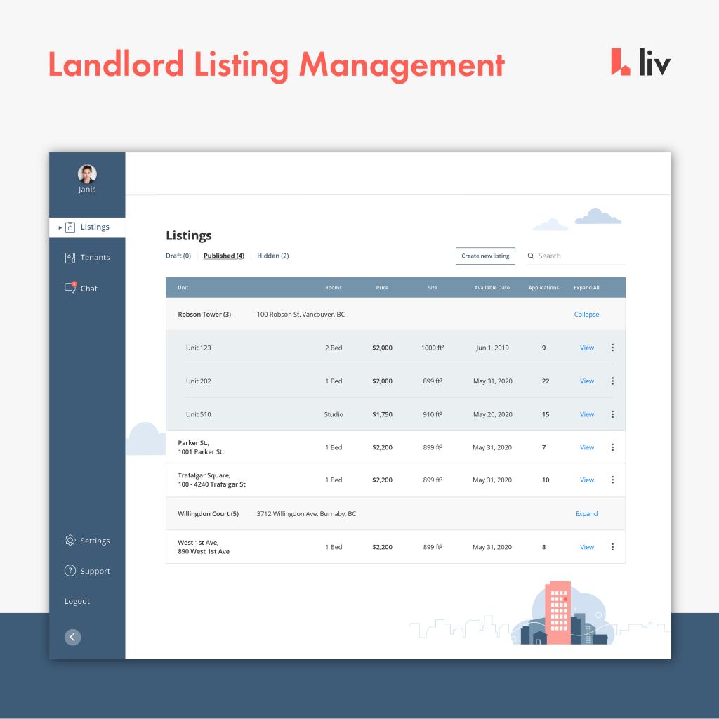 landlord listing management