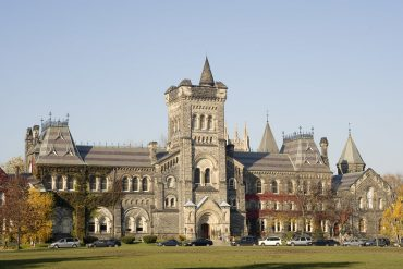 The university of Toronto campus is beautiful and students can live nearby in off-campus housing.