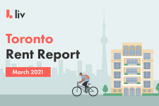 Toronto Rent Report for March 2021 shows the average cost of rent across the city.