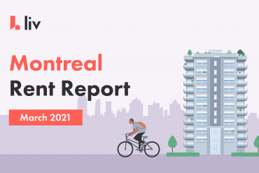 Montreal Rent Report for March 2021 showing the rental averages in the different neighbourhoods across the city.