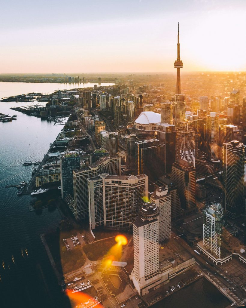 Toronto is Canada's largest city and there are lots of apartment rentals available.