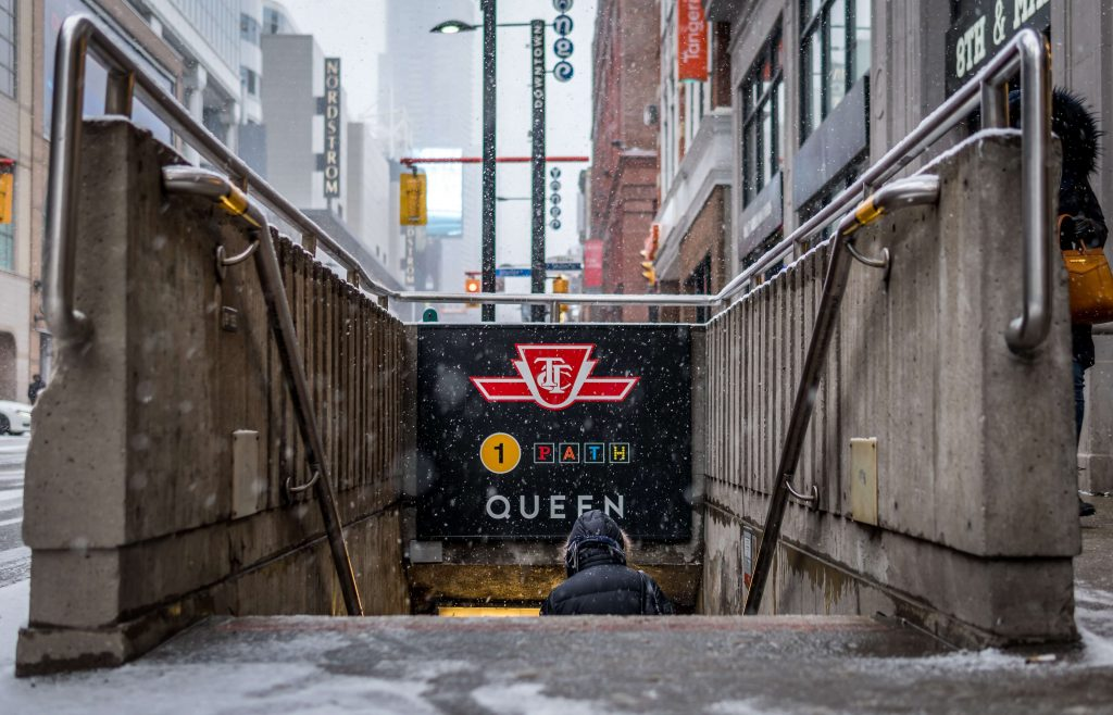 The City of Toronto is well connected by transit options like subway, trams, and buses.