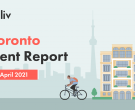 Average rent in Toronto Canada