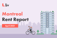The average cost of rent in Montreal changes every month.