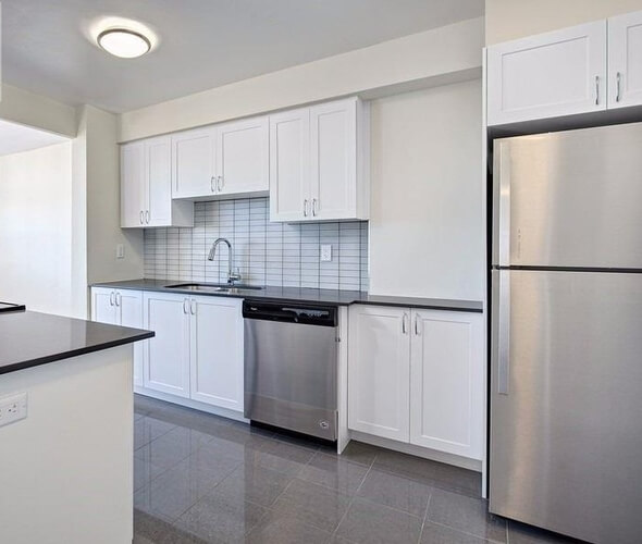 A one-bedroom apartment for rent in North York.