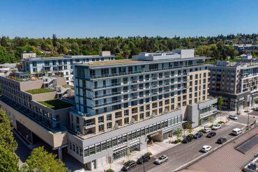 New apartment building in Arbutus Ridge.