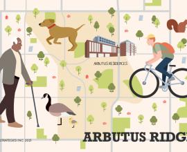 The Arbutus Ridge Neighbourhood Map Guide.