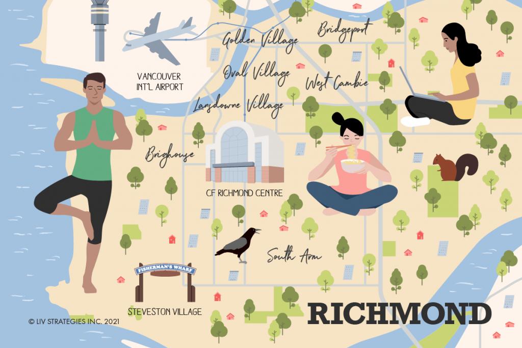 Richmond Neighbourhood guide map.