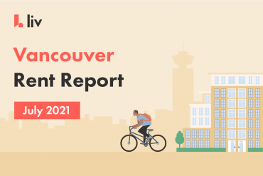 Vanciouver rent report for July 2021 shows rental averages in the city.