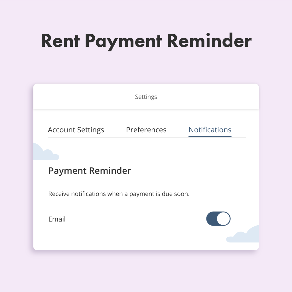 liv.rent rent payment reminder