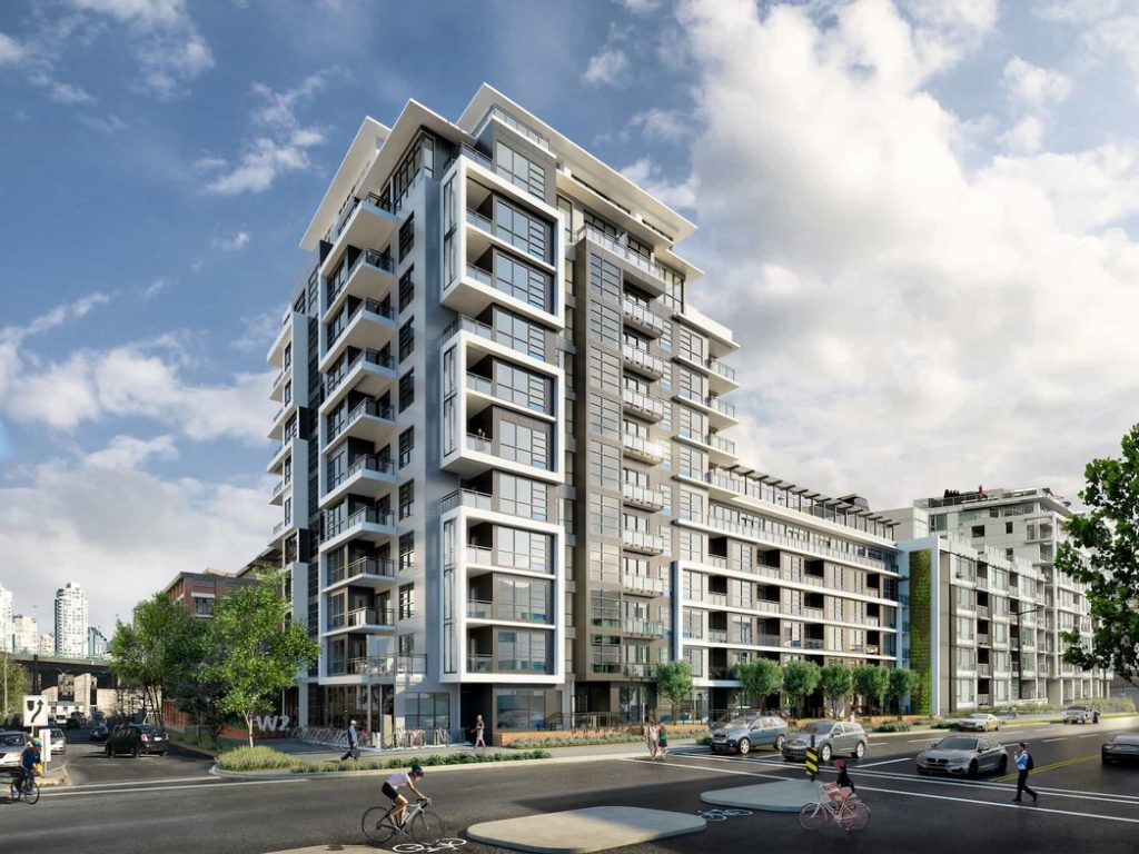 W2 Living building in the Olympic Village Neighbourhood